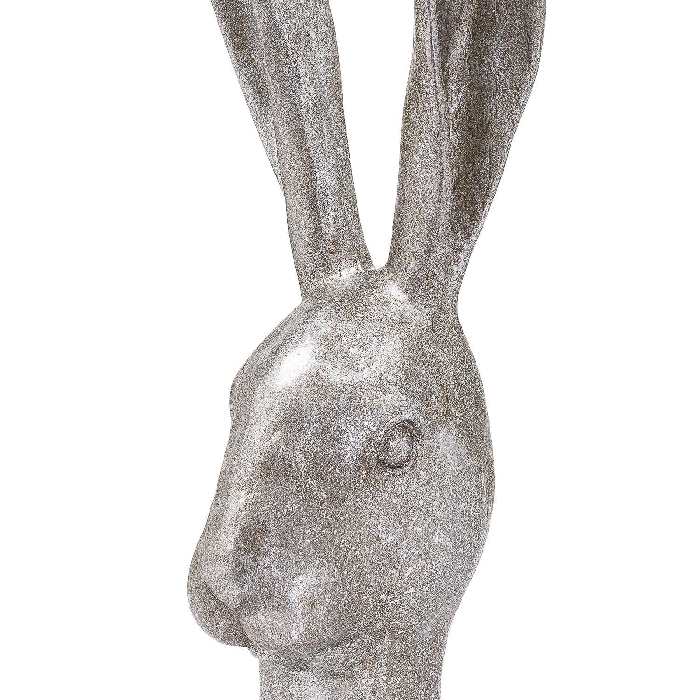 Decorative Silver Hare Head - Image 2