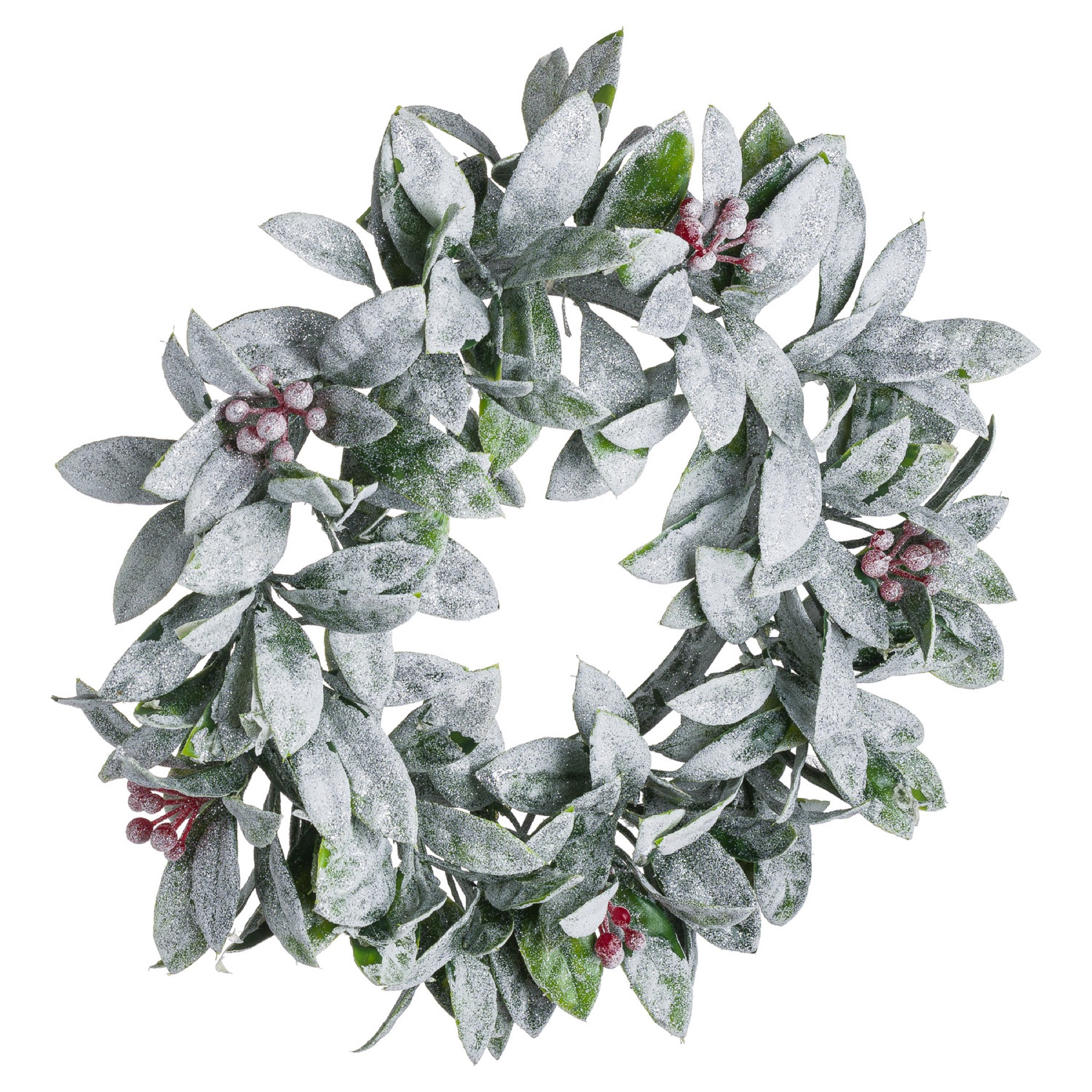 Large Frosted Candle Wreath - Image 1