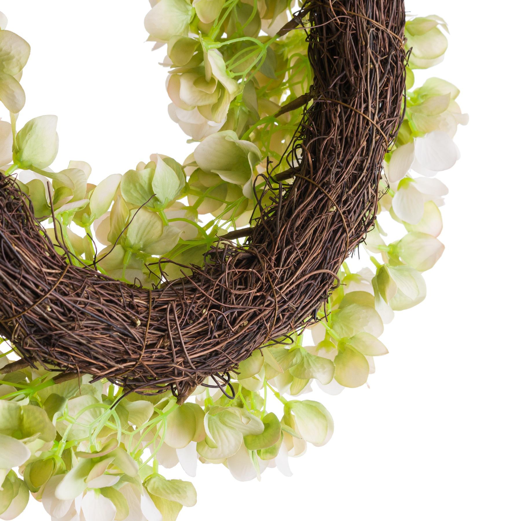 White Hydrangea Wreath - Image 3