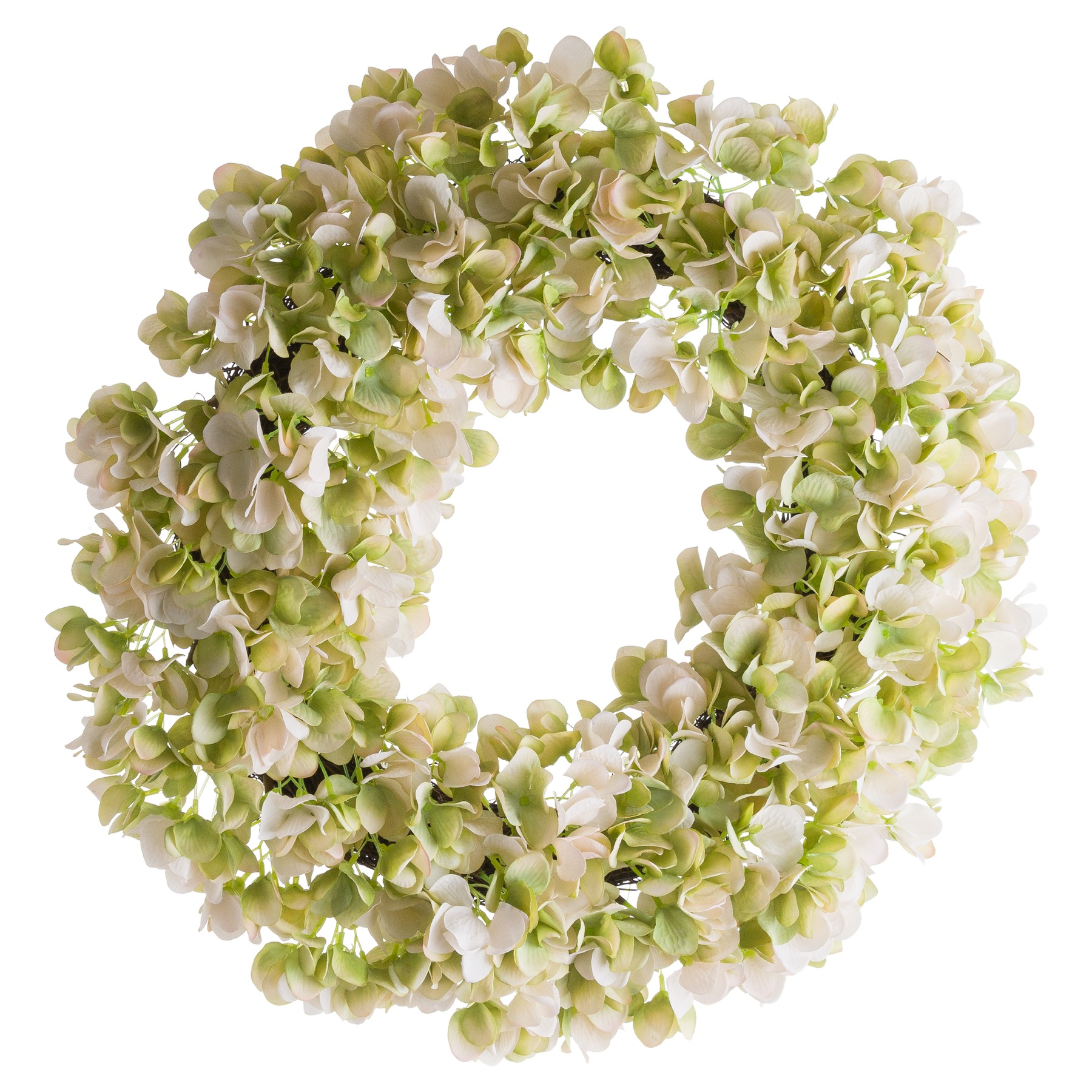 White Hydrangea Wreath - Image 1