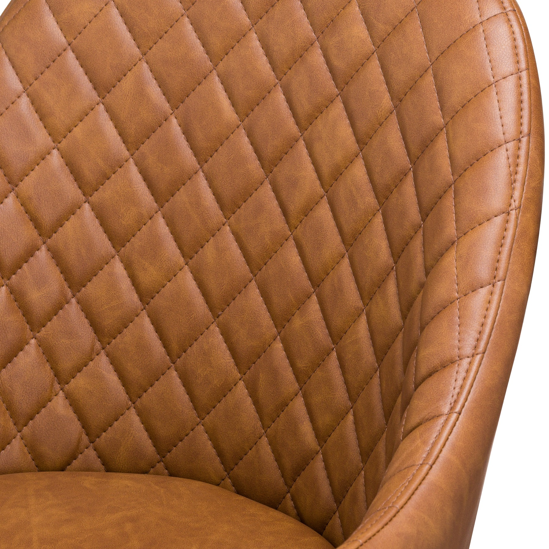 Stockholme Chequered Tan Dining Chair - Image 2