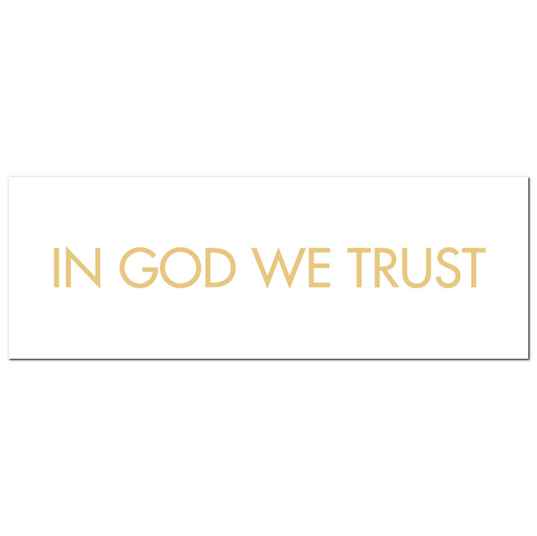 In God We Trust Gold Foil Plaque - Image 1