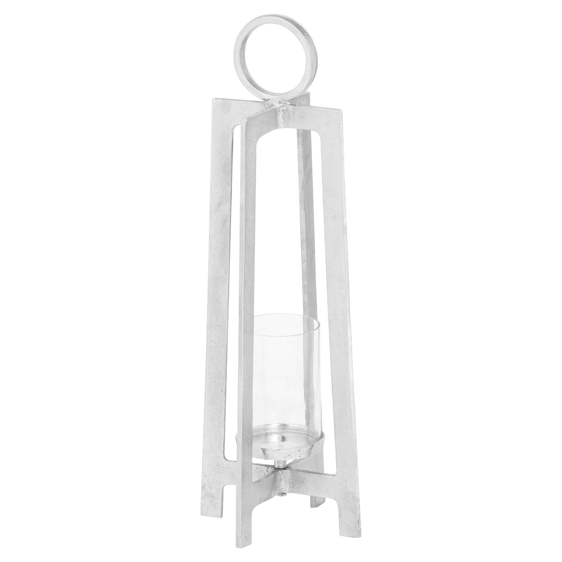 Farrah Collection Silver Lantern - Image 1