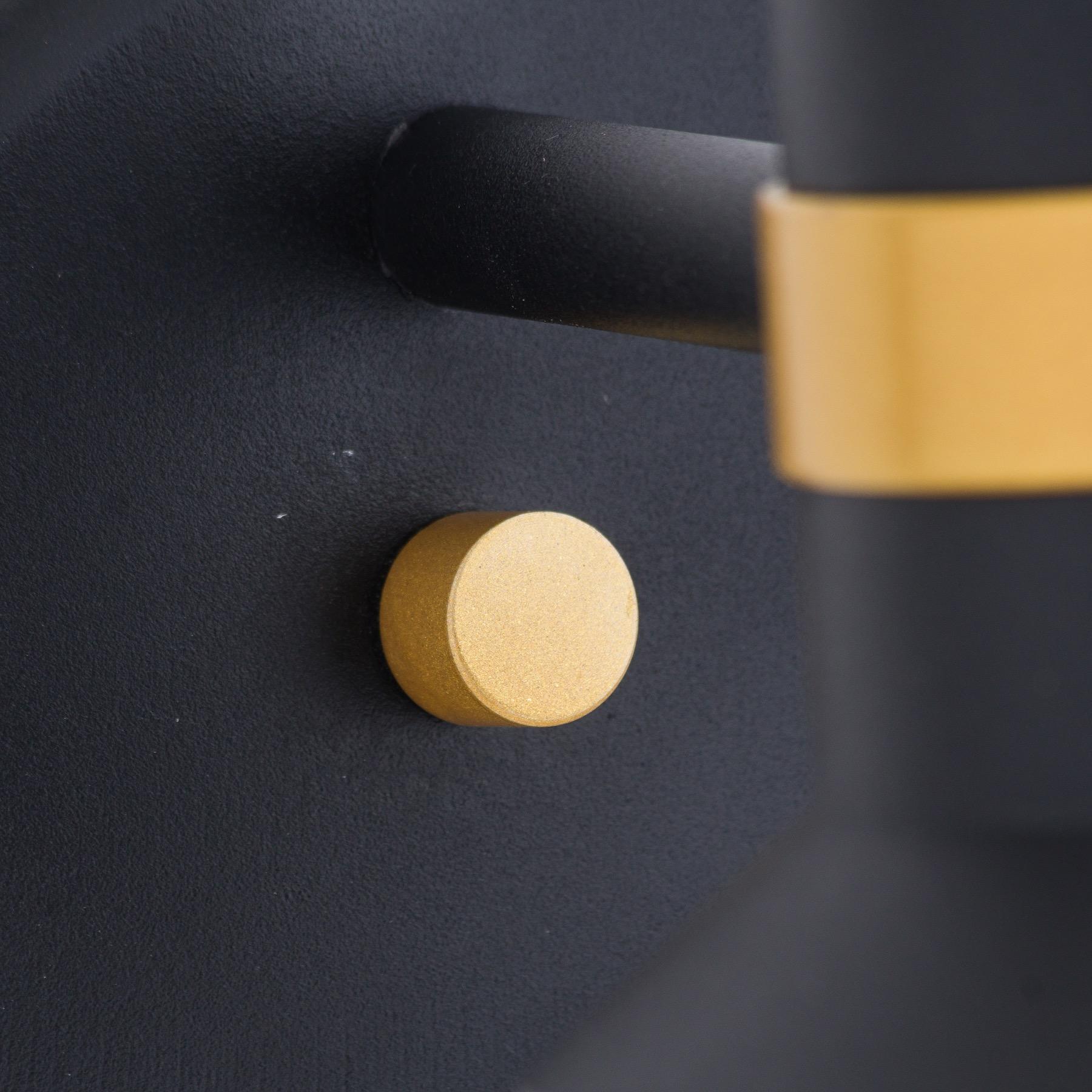 Black And Brass Globe Wall Pendant - Image 2