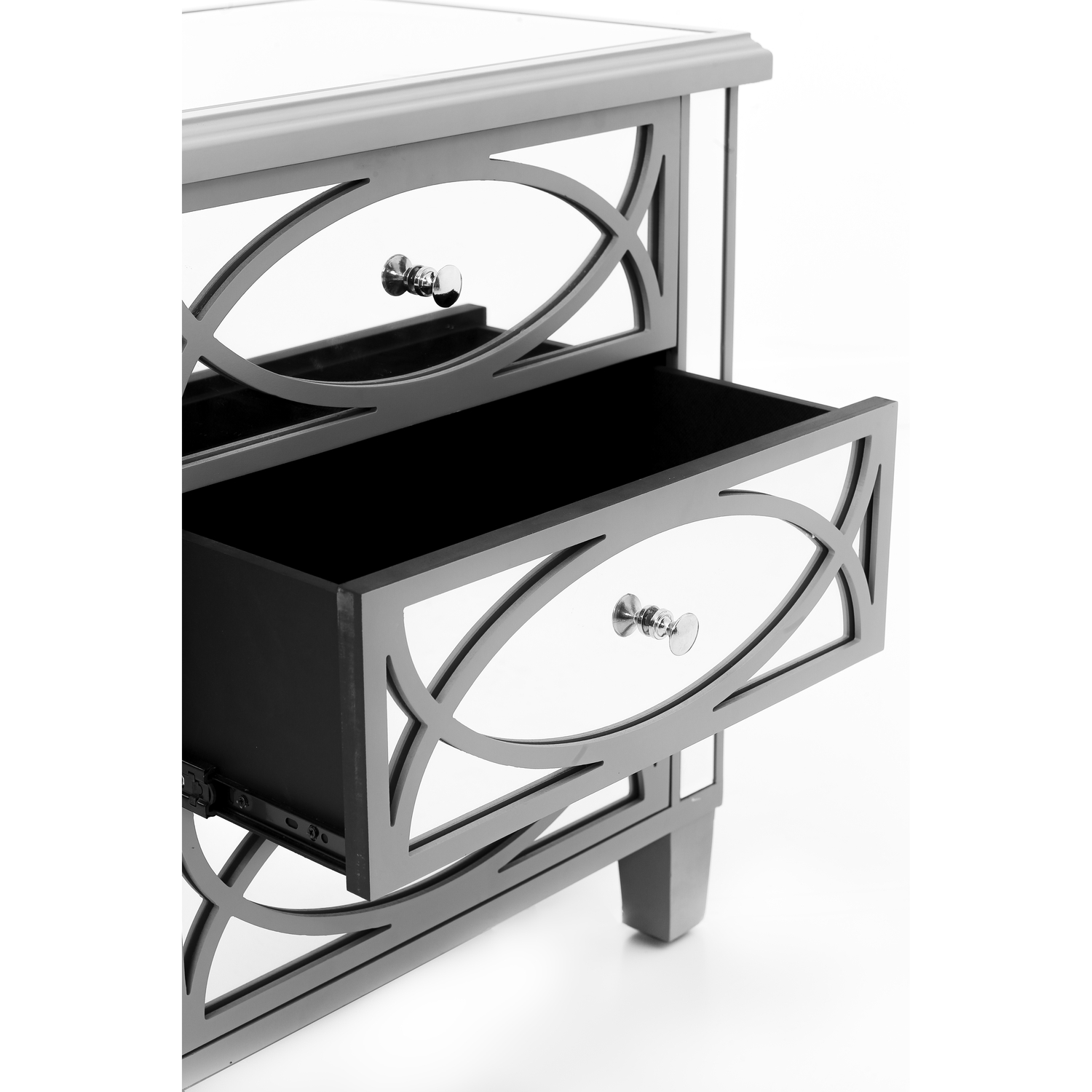 Paloma Collection Mirrored Three Drawer Chest - Image 2