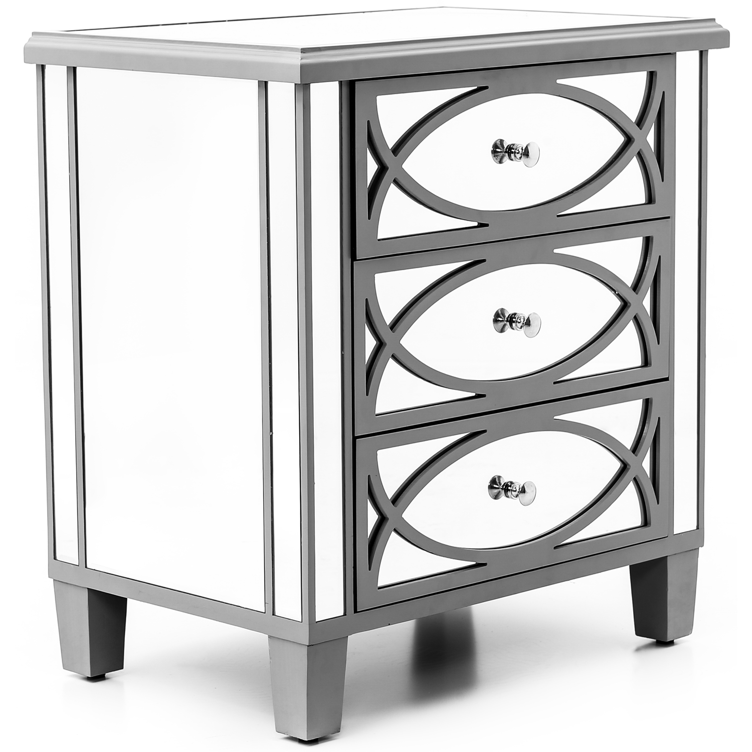 Paloma Collection Mirrored Three Drawer Chest - Image 1
