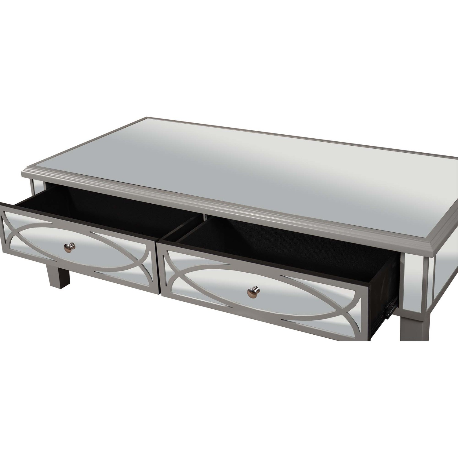 Paloma Collection Mirrored Coffee Table - Image 2