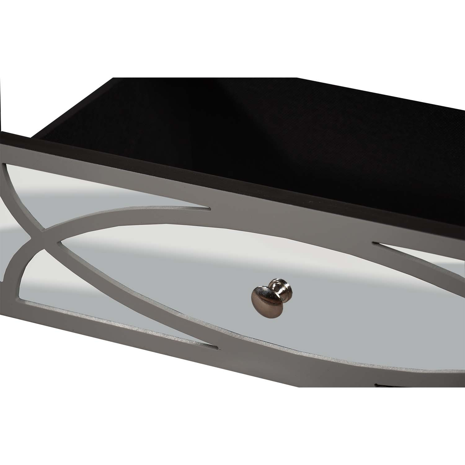 Paloma Collection Mirrored Coffee Table - Image 3