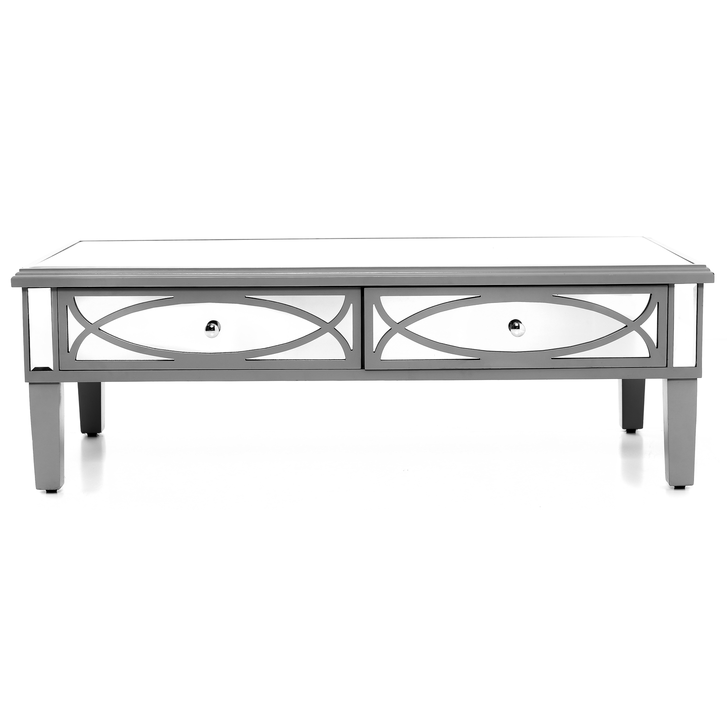 Paloma Collection Mirrored Coffee Table - Image 1