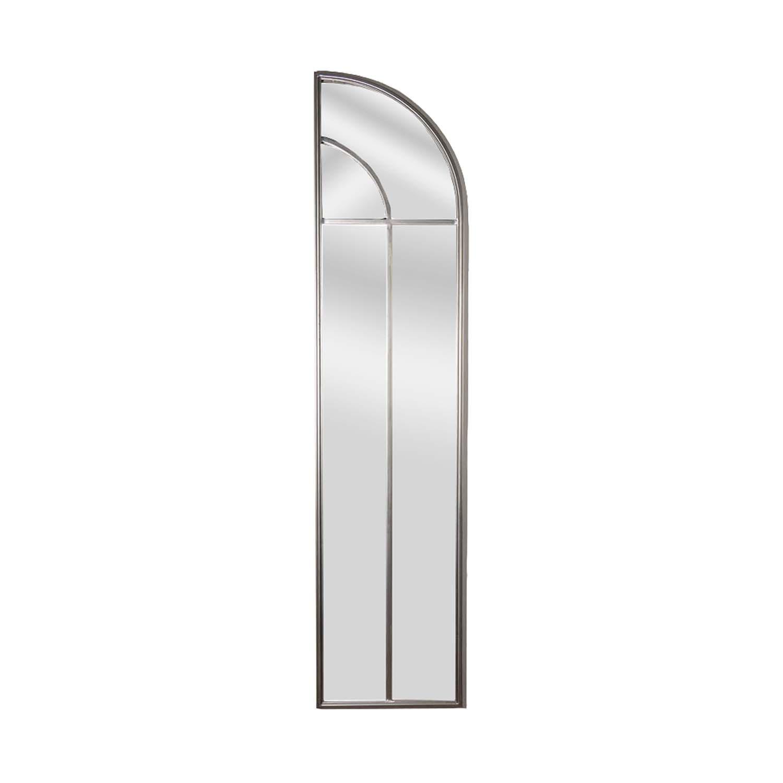 Antique Silver Arch Window Mirror Set - Image 3