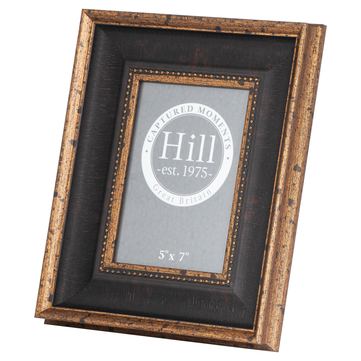 Black And Antique Gold Beaded 5X7 Photo Frame - Image 1