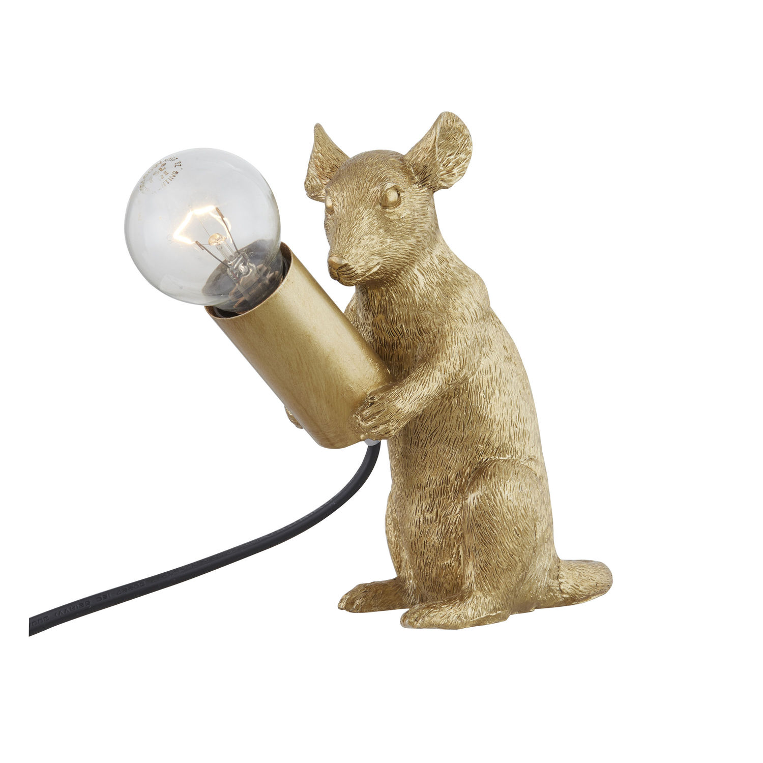 Milton The Mouse Gold Table Lamp - Image 6