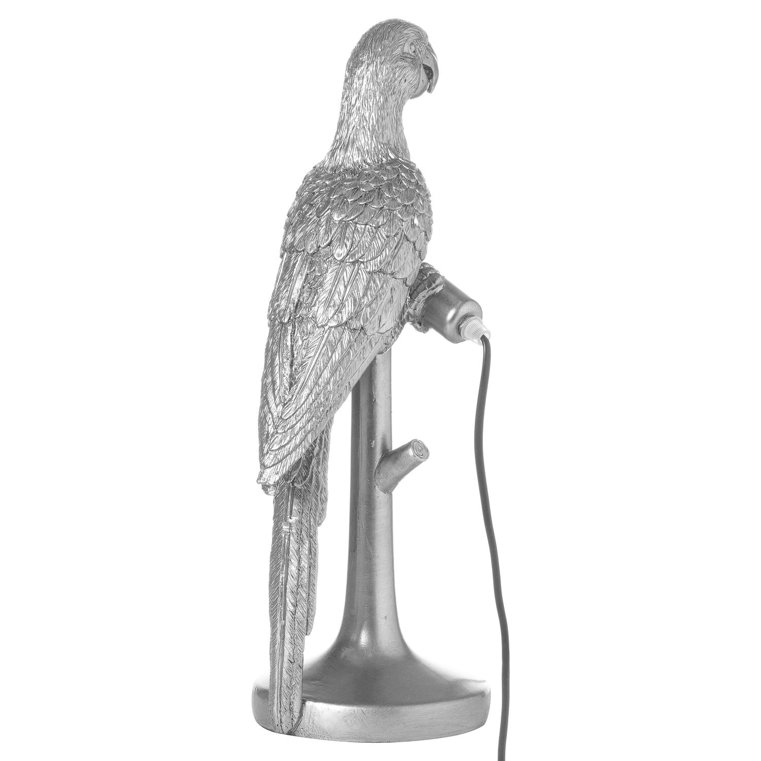 Percy The Parrot Silver Table Lamp - Image 3
