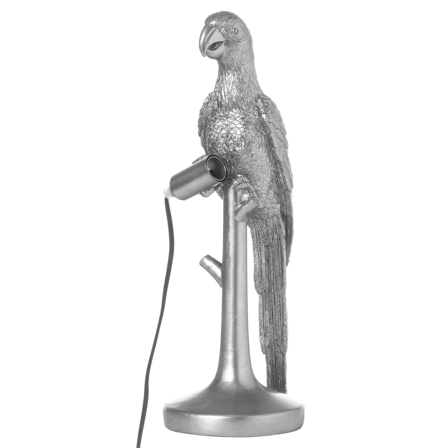 Percy The Parrot Silver Table Lamp - Image 1