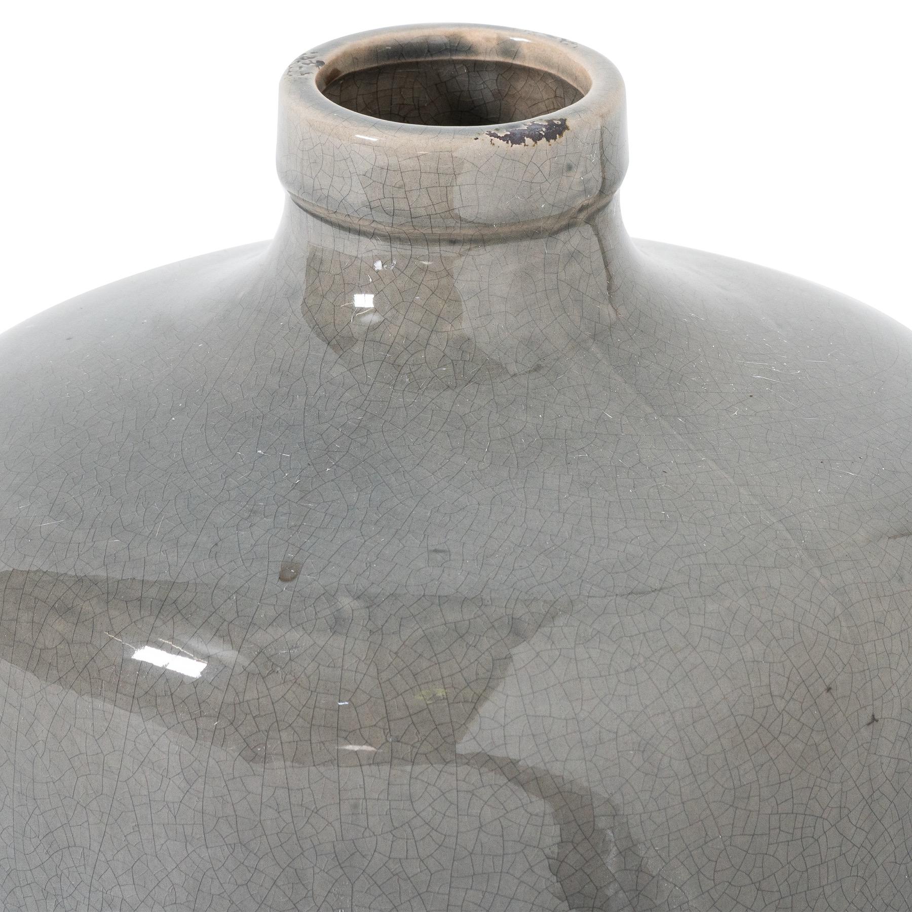 Garda Grey Glazed Chive Vase - Image 2