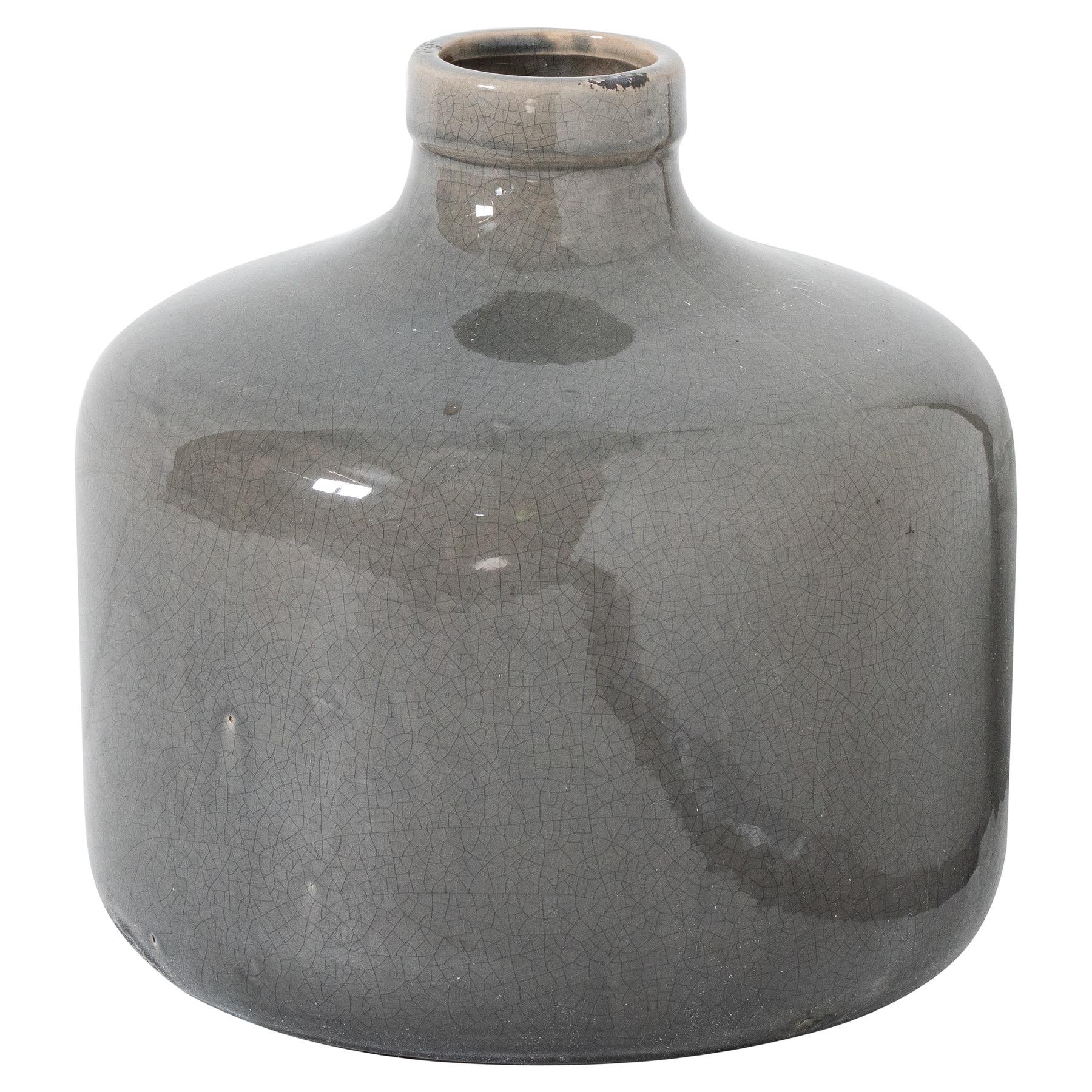 Garda Grey Glazed Chive Vase - Image 1