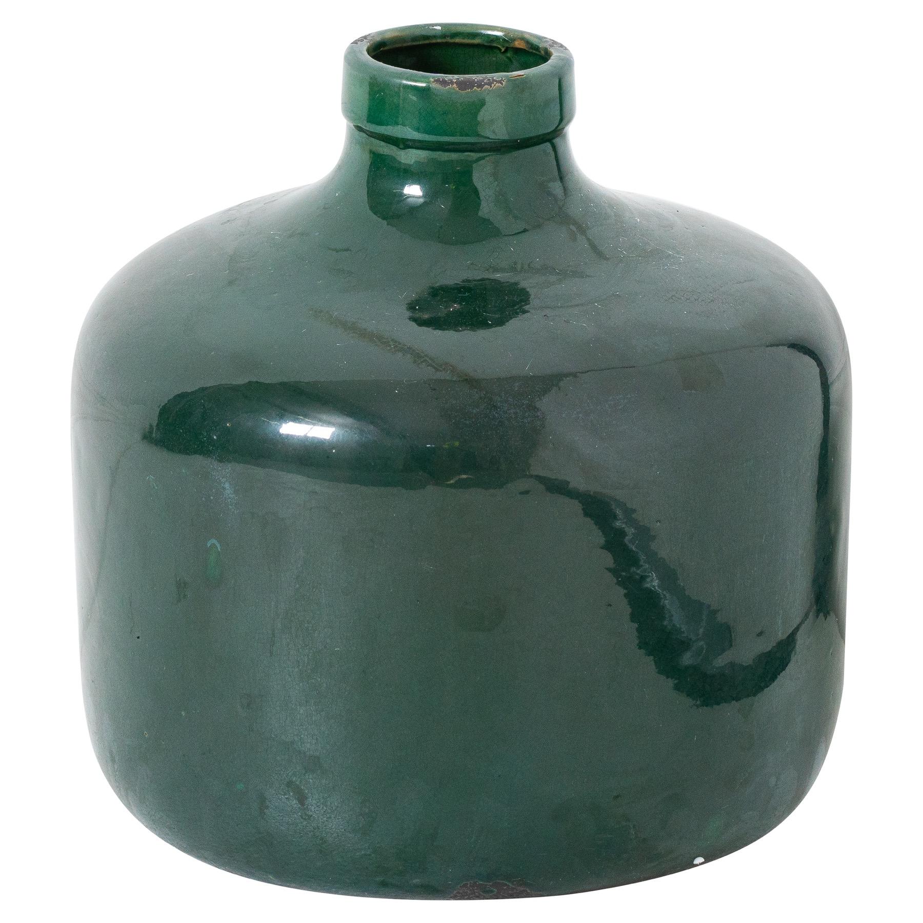 Garda Emerald Glazed Chive Vase - Image 1