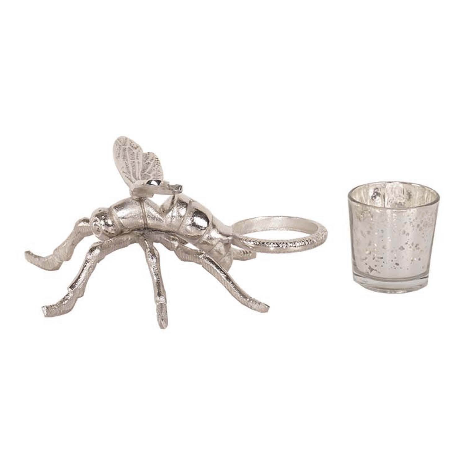 Silver Dragonfly Tealight Holder - Image 4