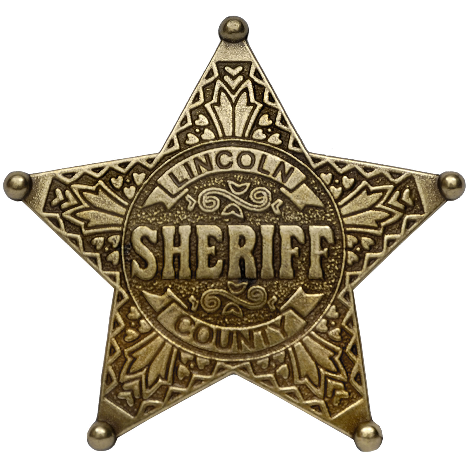 Sheriff Star Five point ball tipped star