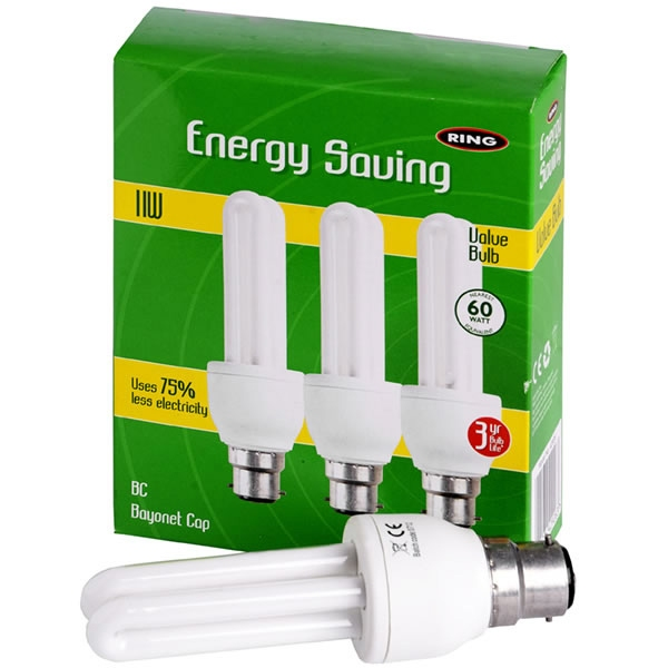 Pack  Of  3  Energy  Saving  Candle  Bulbs  7w  (35w  Equiv)