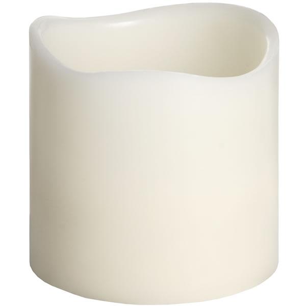 6 X 6 Inch Ivory Led Candle