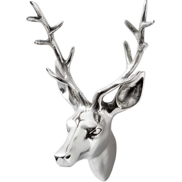 Silver Small Stag Head
