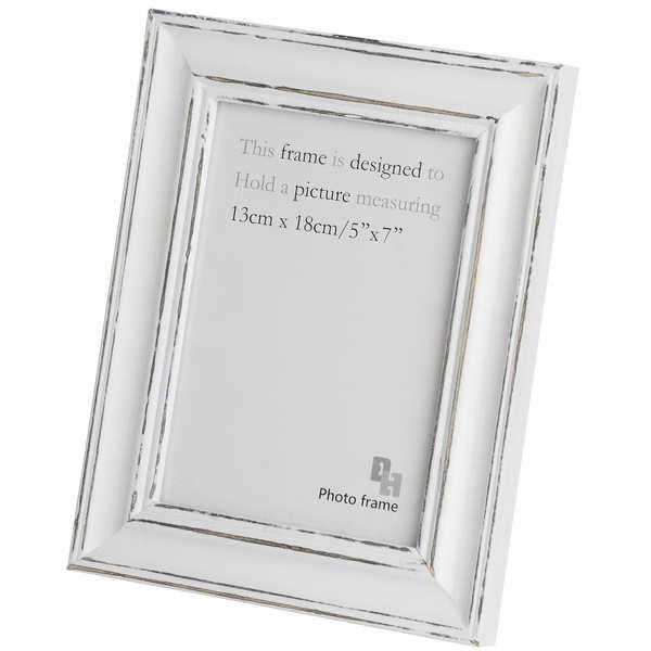 5 X 7 Antique White Photo Frame