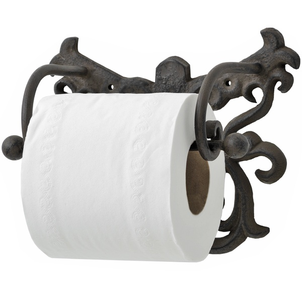 Cast Iron Toilet Roll Holder Rustic From Hill Interiors