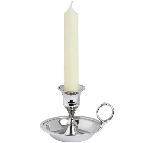 Nickel Wee Willie Winkie Candle Holder