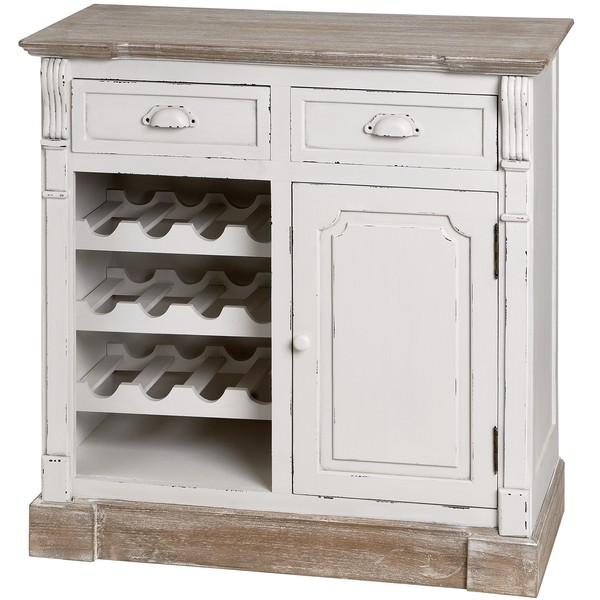 New England Kitchen Cabinet With Wine Rack From Hill Interiors