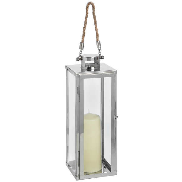 Modern Chrome Floor Lantern