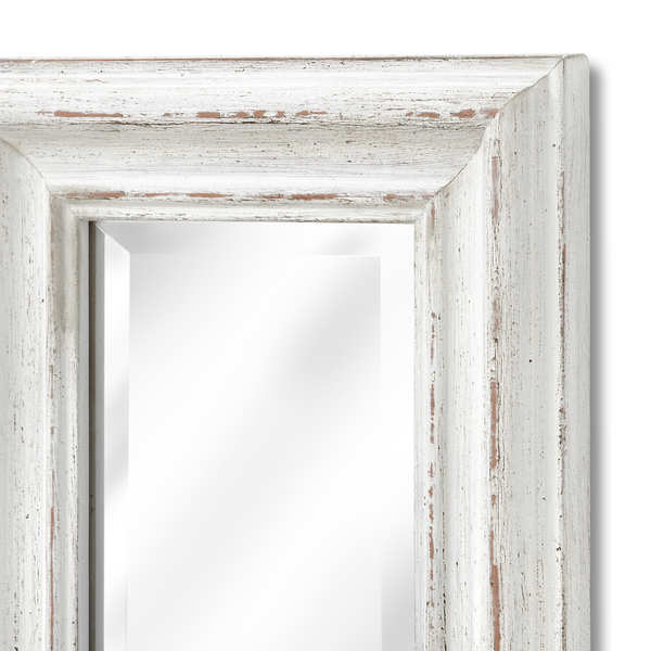 Antique White Frame Narrow Wall Mirror From Hill Interiors