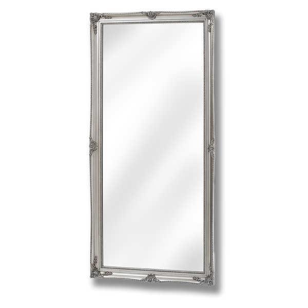 Baroque Antique Silver Full Length Mirror