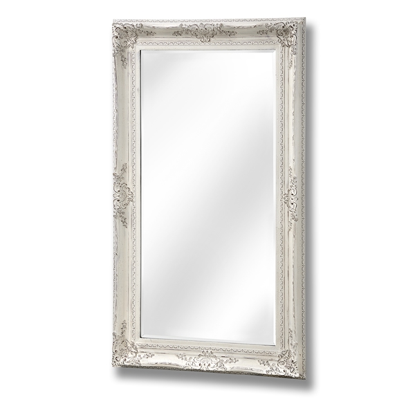 Baroque style antique white mirror from hill interiors for White baroque style mirror