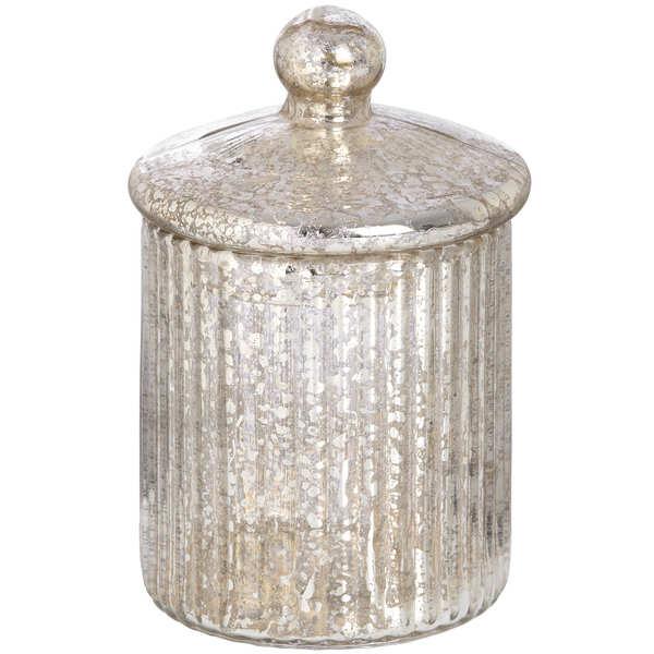 Round Gold Glass Decorative Box
