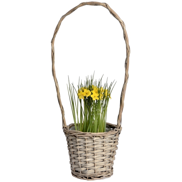 Wicker plant holder