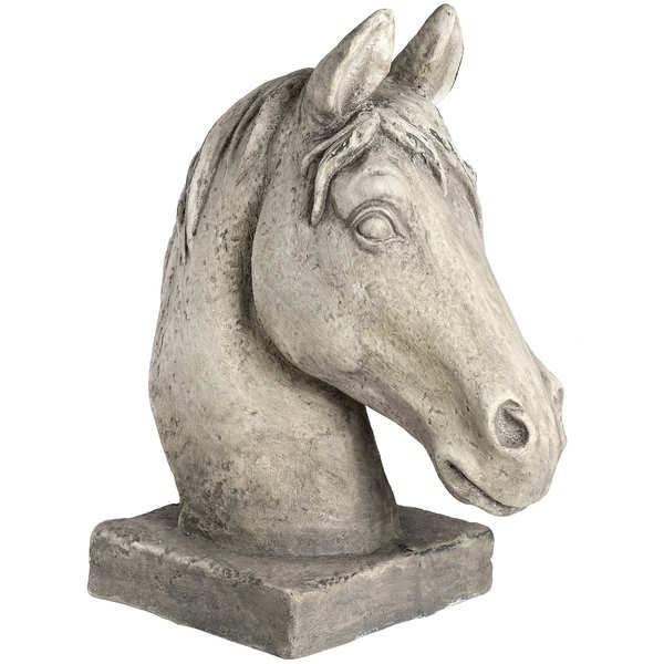 Large White Resin Horse Head
