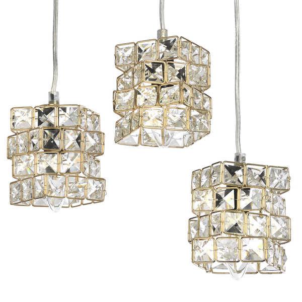 Gold Cube Pendant Lamp