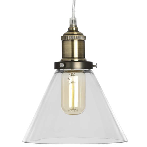 Glass Cone Pendant Lamp