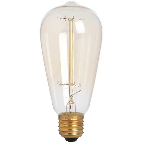 Edison Filament Teardrop Squirrel Cage Bulb