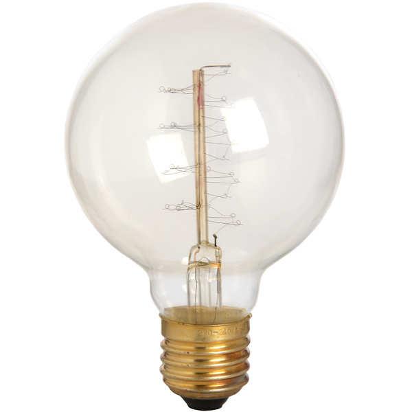 Edison Filament Round Globe Bulb