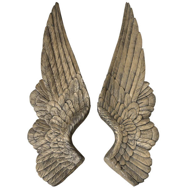 Set of 2 Gold Angel Wings Decoration