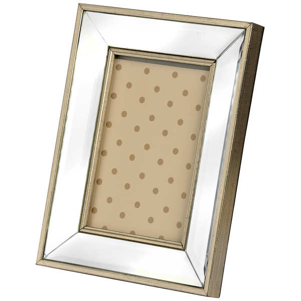 Rectangle Mirror Bordered Photo Frame 5x7