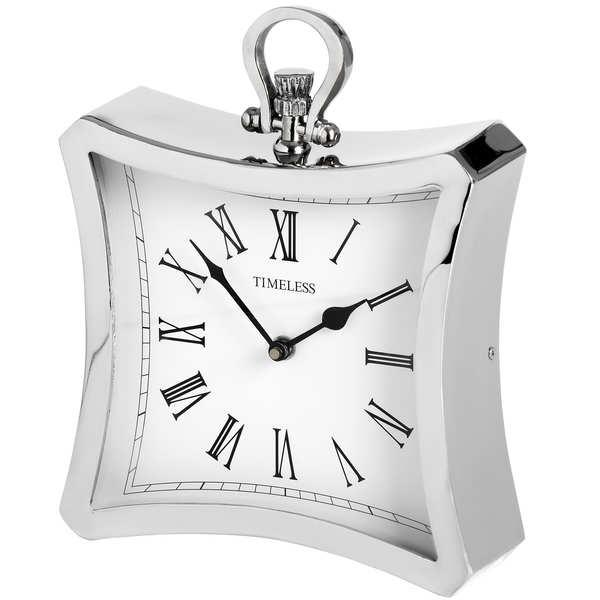 Silver Contour Clock