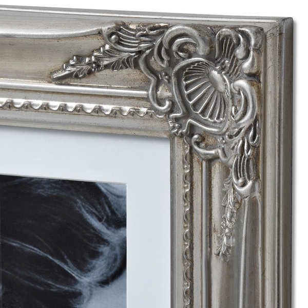 Large Antique Silver Ornate Multi Photo Frame From Hill