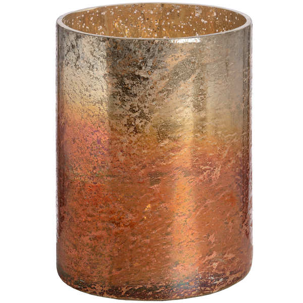 Copper Ombre Metallic Glass Medium Candle Holder