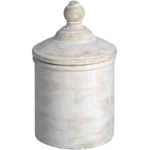 Large Antique White Cannister