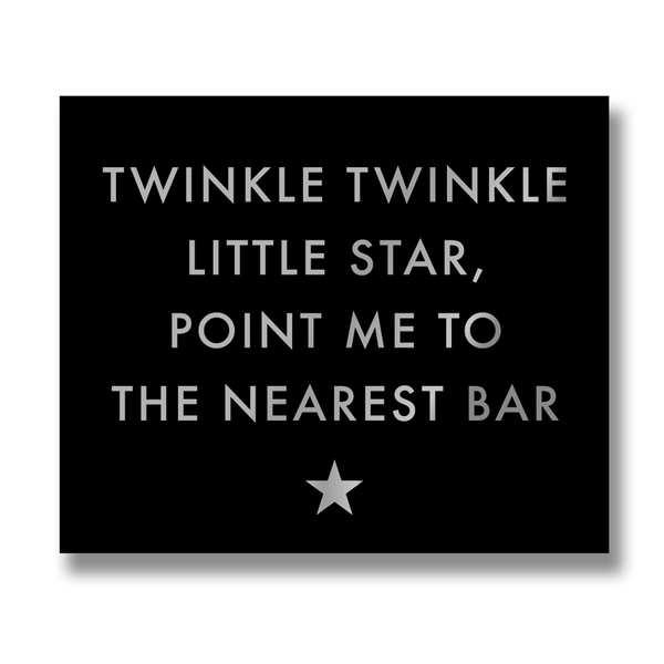 Twinkle Twinkle Silver Foil Plaque