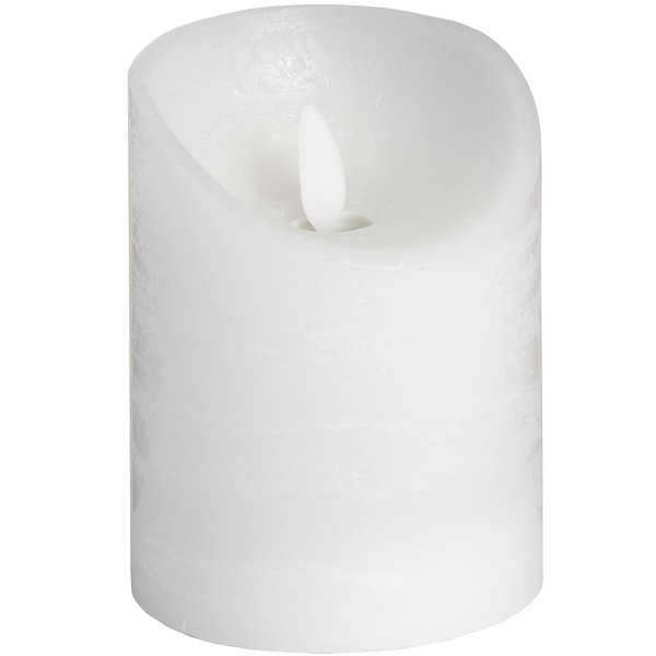 3 x 4 White Flickering Flame LED Wax Candle