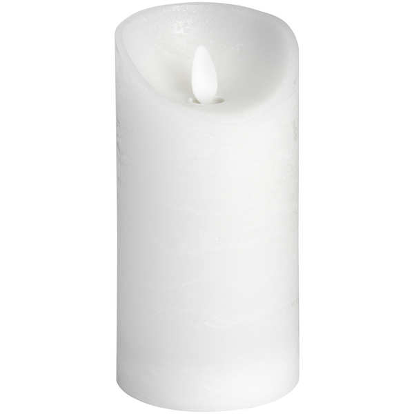 Luxe Collection 3 x 6 White Flickering Flame LED Wax Candle